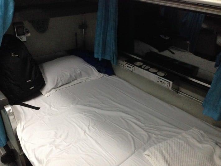 Mein Bett im Nachtzug