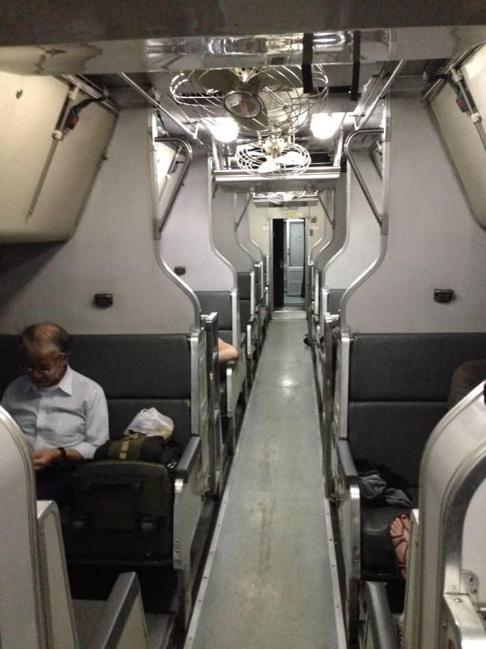 Artikel Nachtzug. Foto im Zug
