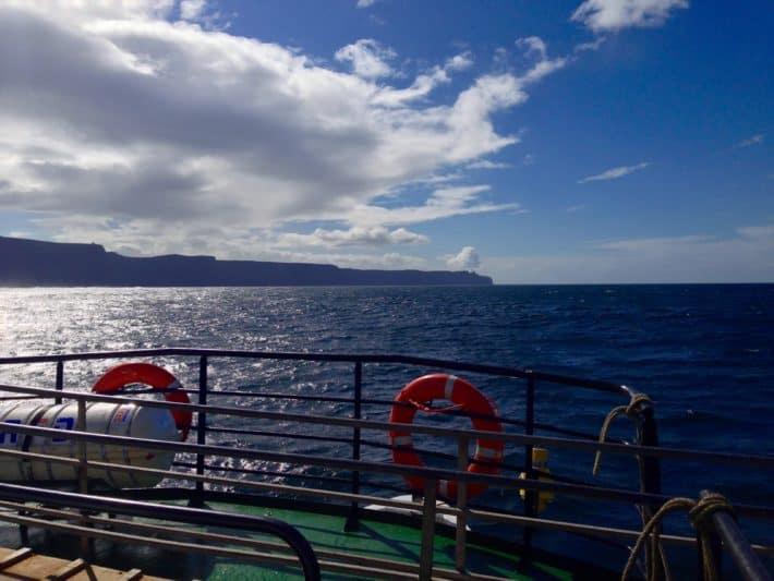 Unterwegs auf dem Ozean zu den Cliffs of Moher