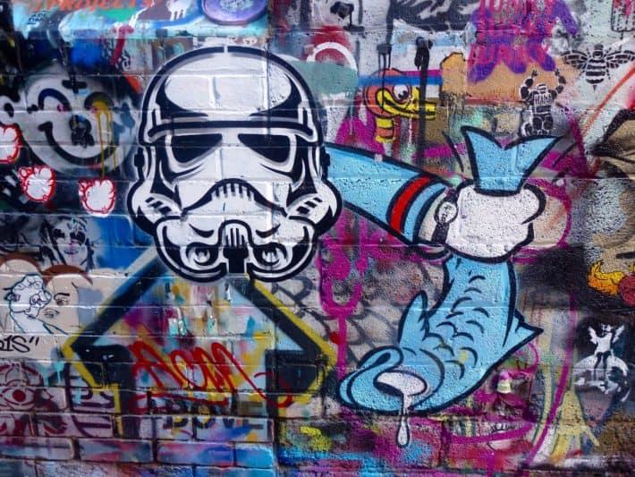 Streetart März Melbourne Star Wars Comics