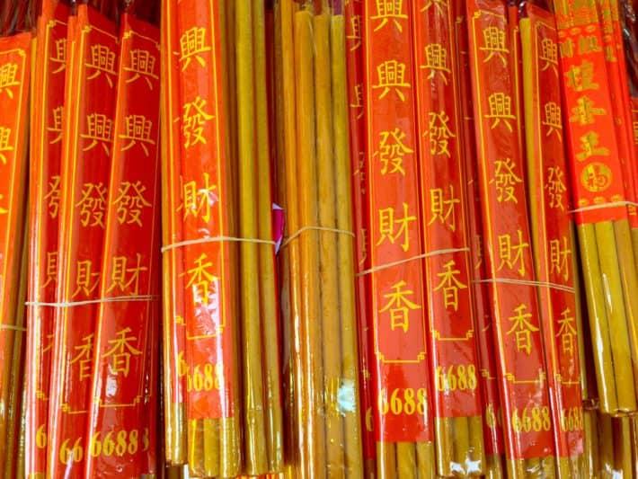 Chinese New Year, Räucherstäbchen