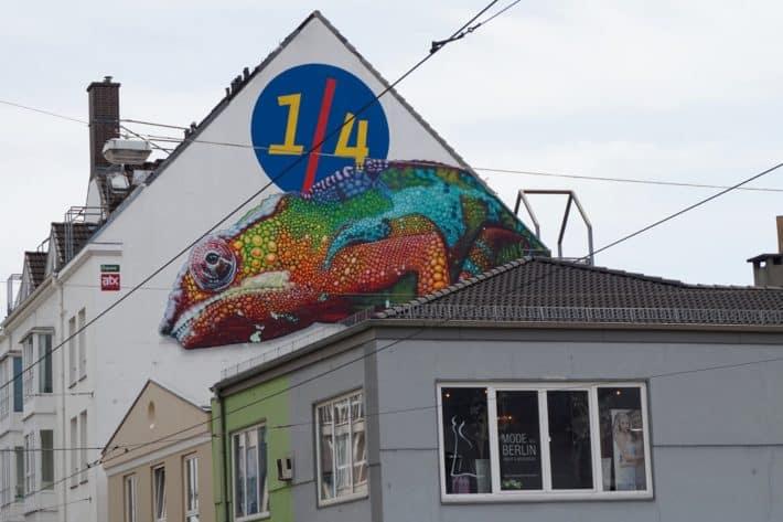 Das Viertel, Graffiti, 1/4 an Hauswand