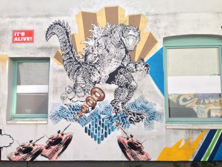 Das Viertel: Streetart, in der Straße Sorgenfrei, Bremen
