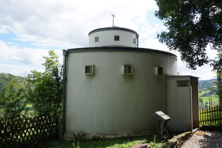 Kapelle, Klosterruine Disibodenberg, Etappenziel Hildegard von Bingen Pilgerwanderweg