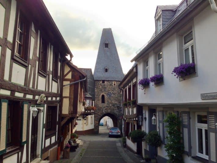 Etappenziel Tag 1 Hildegard von Bingen Pilgerwanderweg, Uhrenturm, Herrstein