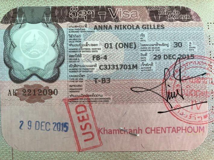 Foto von Laos Visum, Artikel Grenzuebergaenge von Thailand nach Laos mit Tipps, Öffnungszeiten und Infos