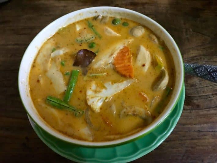 vegetarisches Curry, Bodhi Tree Cafe 2, Chiang Mai, Foto vom Essen