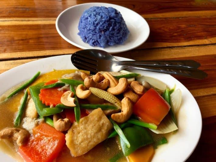 vegetarisch, Gemüse, Klebereis, vegan, Aum,Chiang Mai