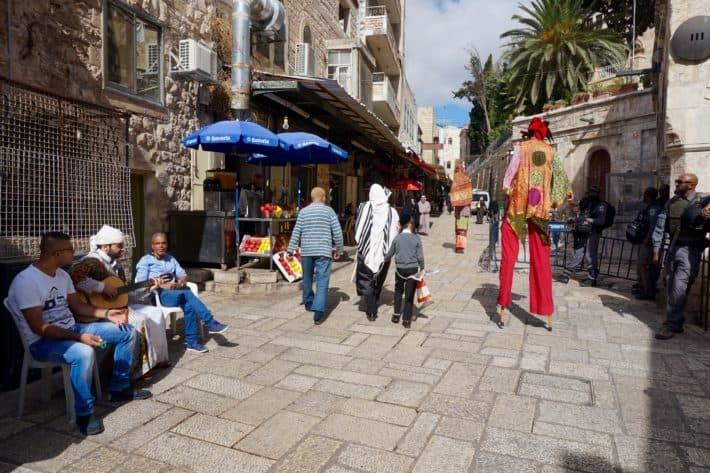 Via Dolorosa, Jerusalem, Gassen, Straßen, Kreuzwegstation 3