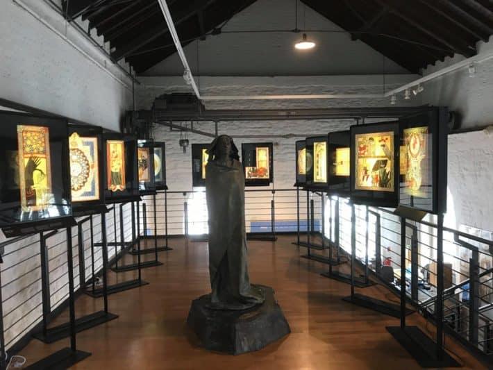 Binger Hildegardweg, Museum am Strom von innen, Ausstellung zur Hildegard von Bingen