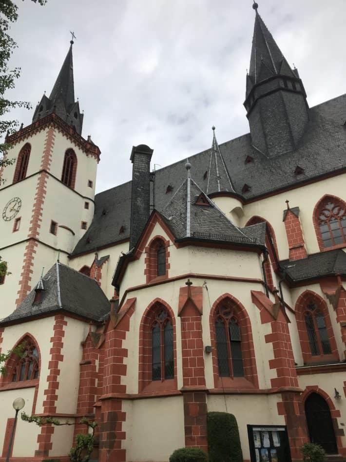 St. Martin Basilika, Bingen, Bingen am Rhein, Außenansicht, Binger Hildegardweg