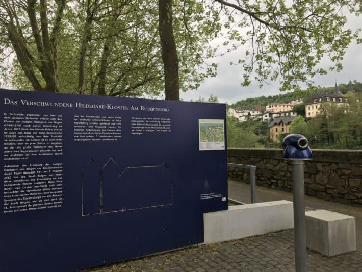 Binger Hildegardweg, Klosterblick am Naheufer