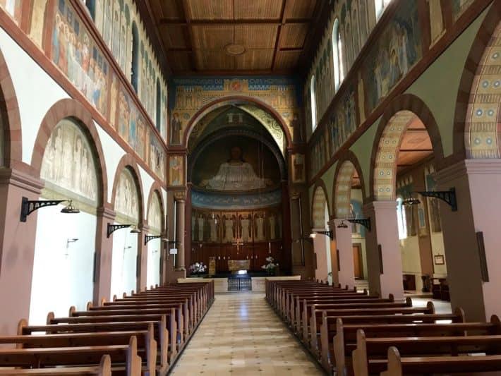 Rüdesheimer Hildegardweg, Klosterkirche, Abteil St. Hildegard, Kloster