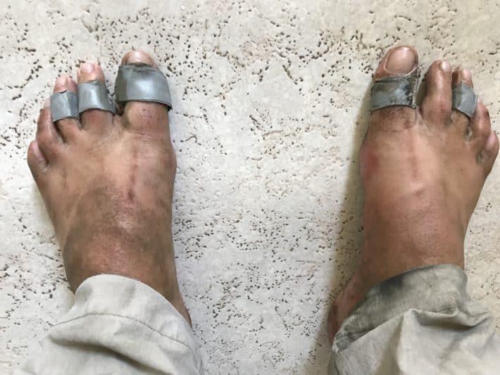 dreckige Füße, in Sandalen gepilgert, 5. Etappe der Via Imperii