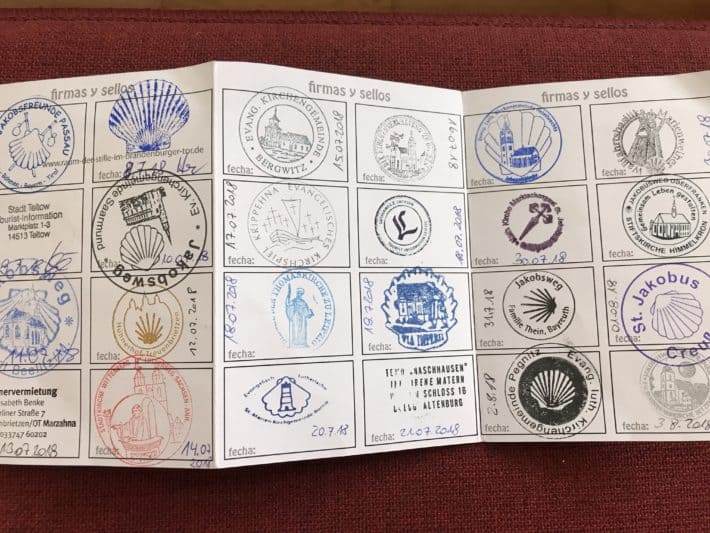 Pilgerausweis, Pilgerstempel, Via Imperii von Berlin nach Nürnberg